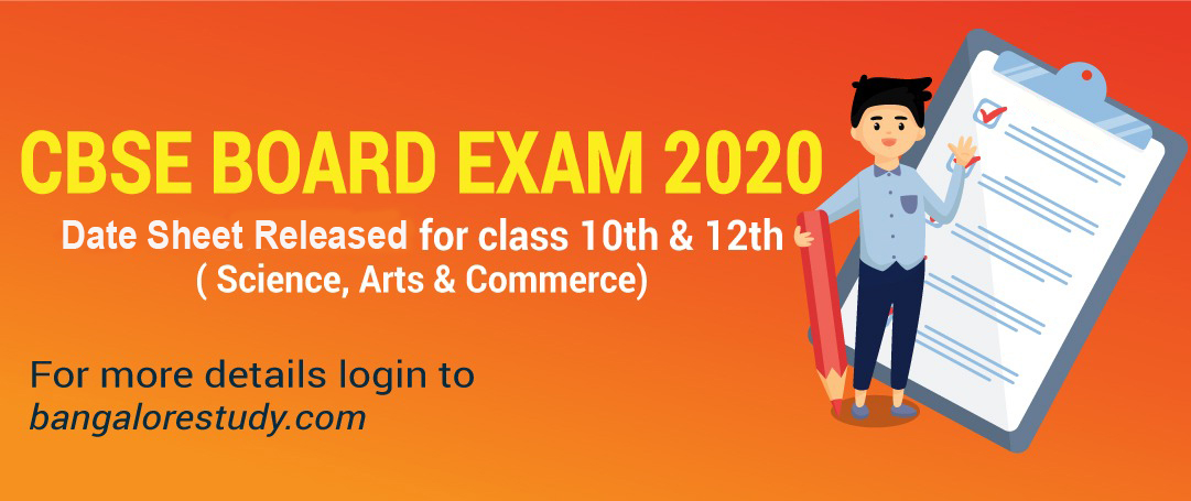 CBSE 2019-20: Release of 10th and 12th Board Exam Date Sheet
