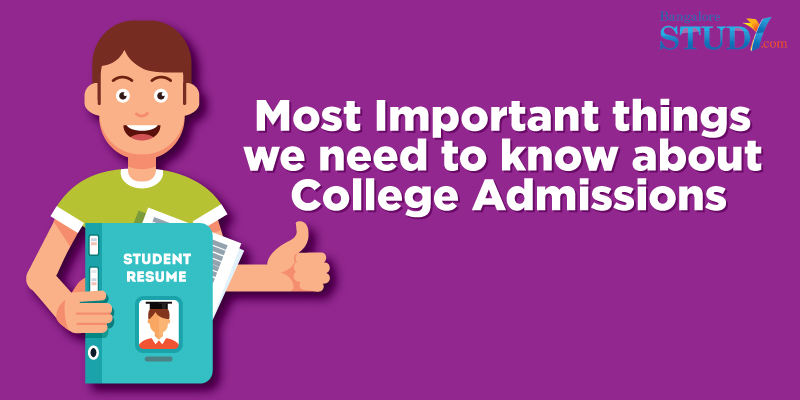What are the most important things we need to know about college admissions?
