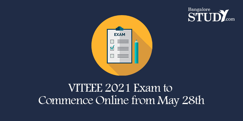 VITEEE 2021 Exam to Commence Online from May 28th