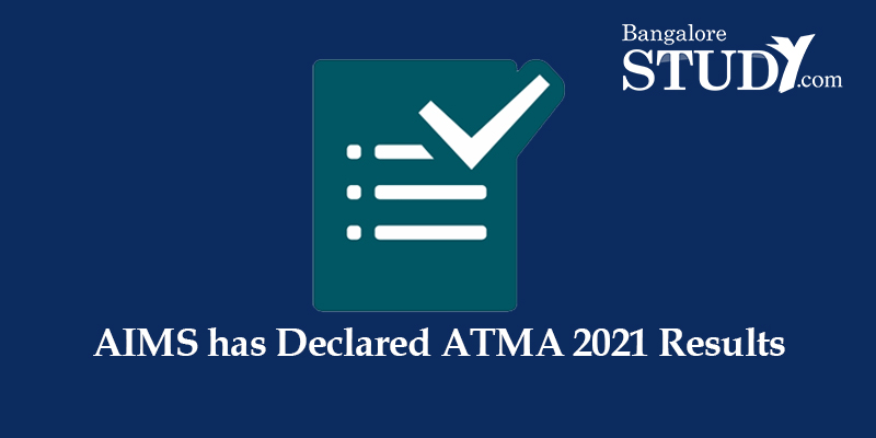 AIMS has Declared ATMA 2021 Results